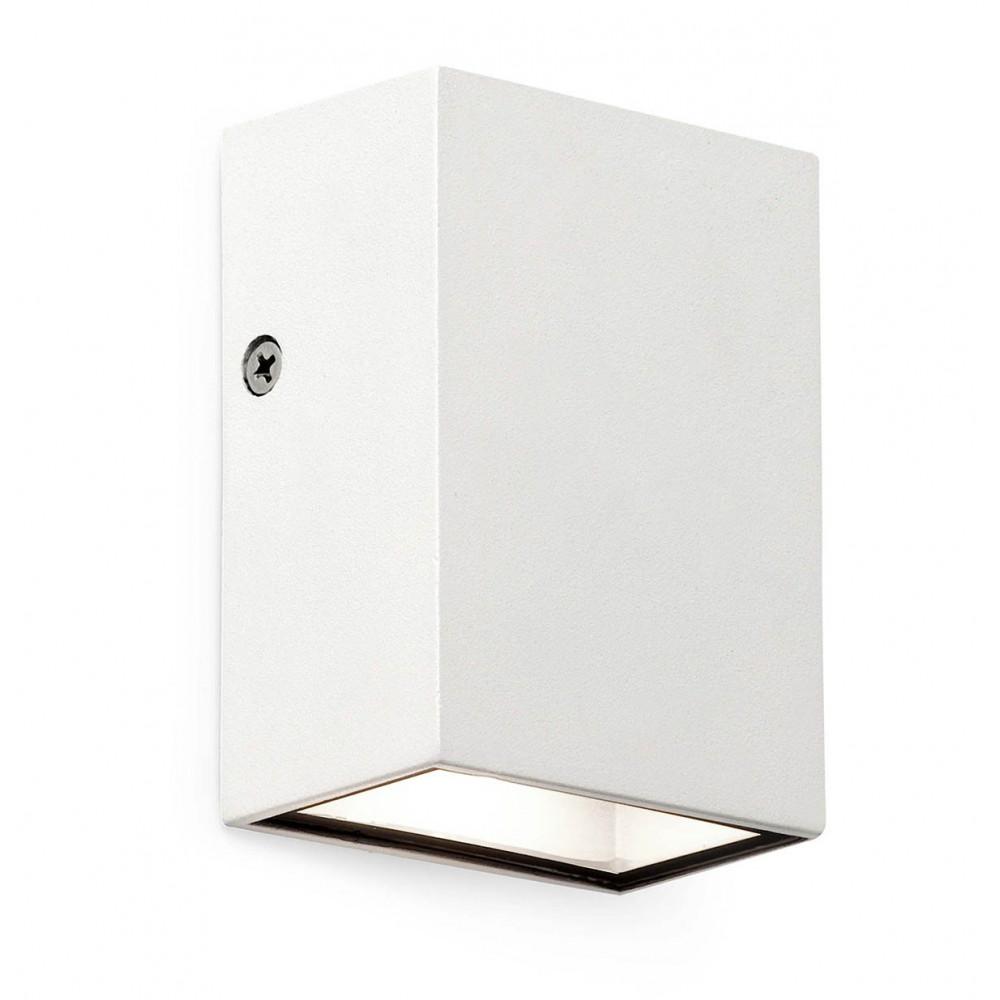 Applique exterieur cube design blanc led for Applique exterieur led eclairage exterieur