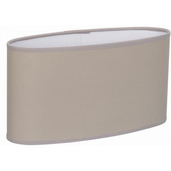Grand abat-jour ovale droit beige