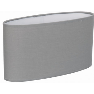 Grand abat-jour ovale droit gris clair