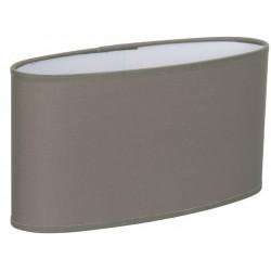 Grand abat-jour ovale droit gris foncé