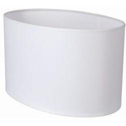 Abat-jour ovale droit blanc