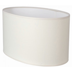 Abat-jour ovale droit blanc crème