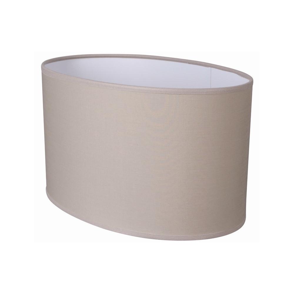 abat jour ovale droit coloris beige pas cher sur lampe avenue. Black Bedroom Furniture Sets. Home Design Ideas