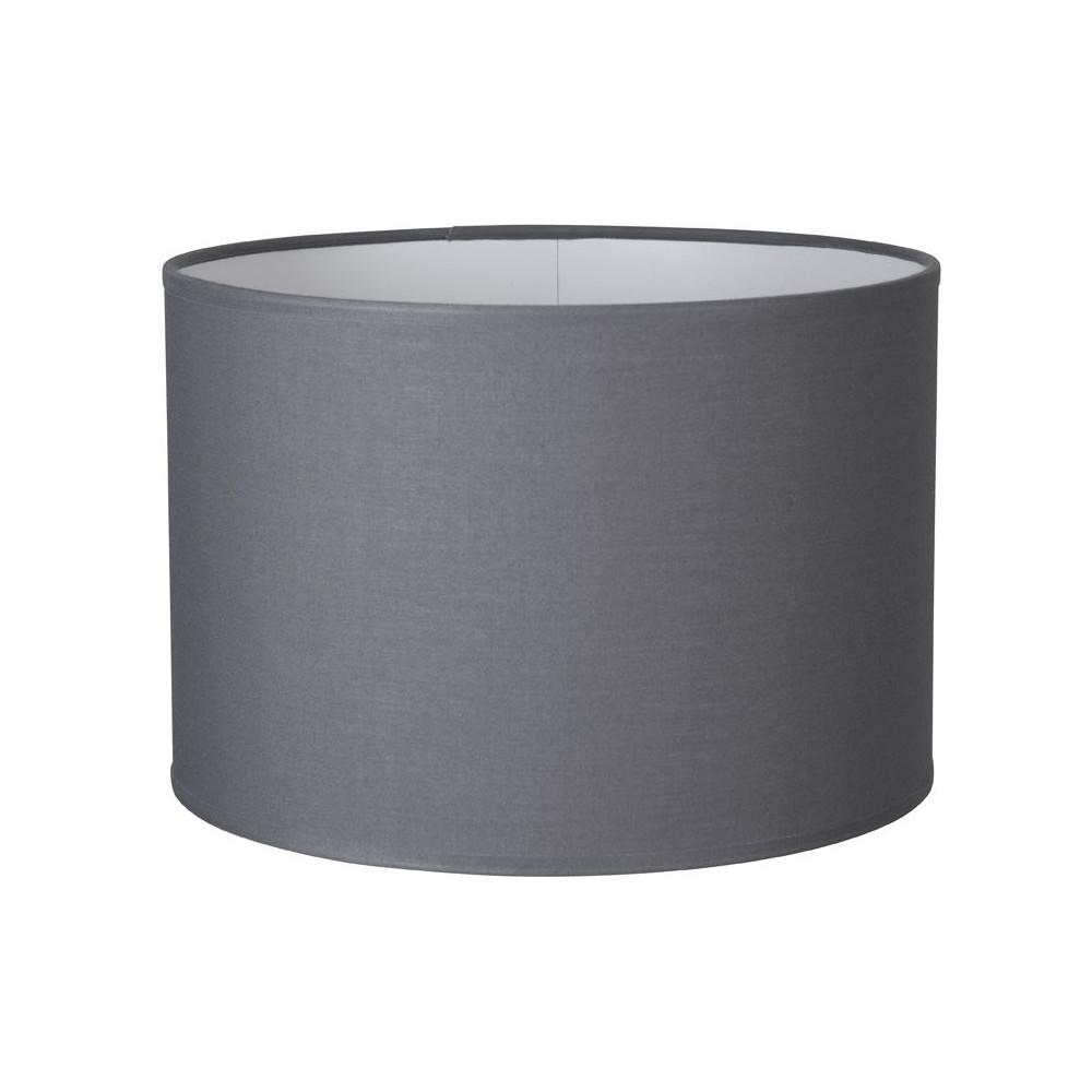 abat jour cylindre gris ardoise sur lampe avenue. Black Bedroom Furniture Sets. Home Design Ideas