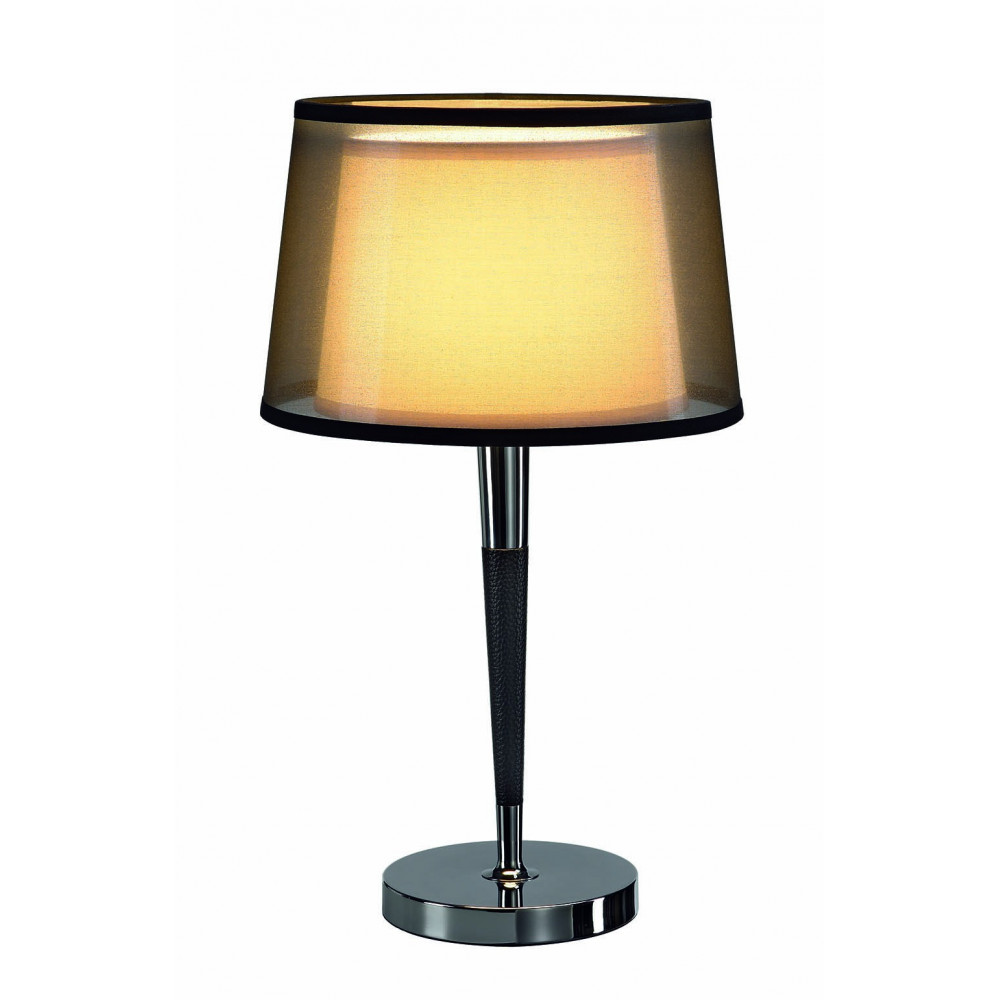 Lampe d co chic double abat jour sur lampe avenue for Table pour lampe de salon