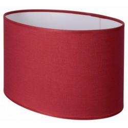 Abat-jour ovale droit rouge cerise
