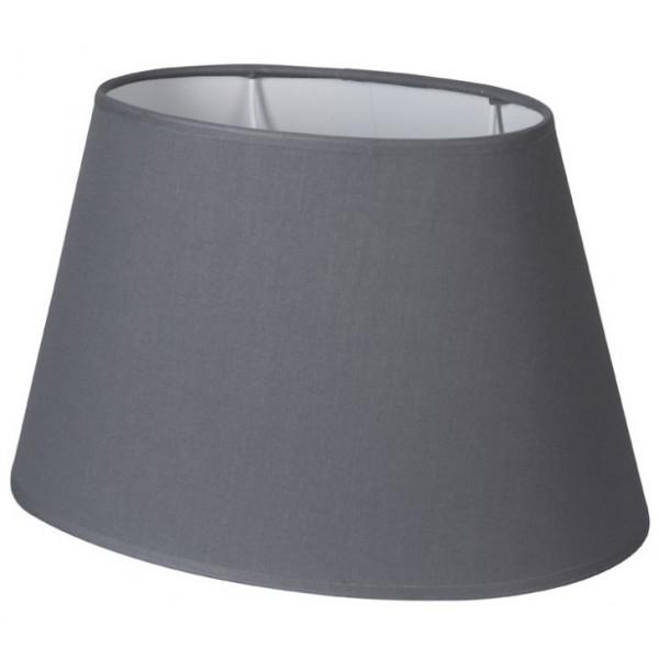 abat-jour ovale gris ardoise