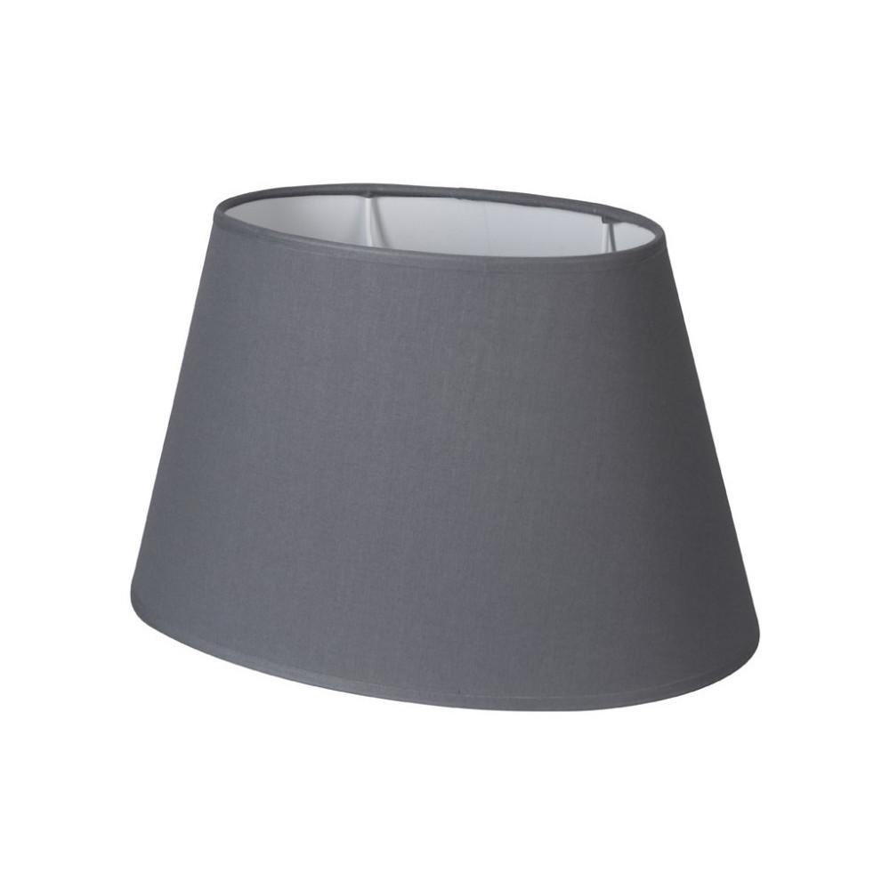abat jour ovale gris ardoise abat jour coton sur lampe avenue. Black Bedroom Furniture Sets. Home Design Ideas