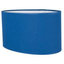 Abat-jour ovale droit bleu