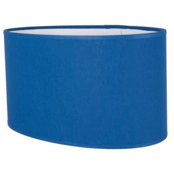 abat jour ovale droit en coton bleu pas cher sur lampe avenue. Black Bedroom Furniture Sets. Home Design Ideas