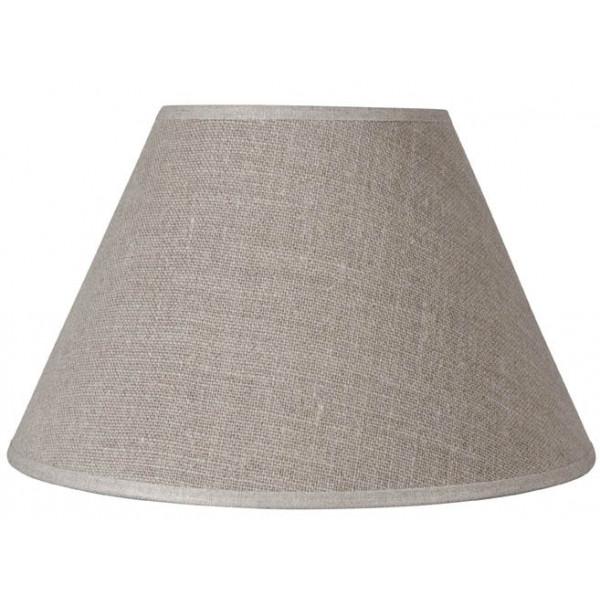 vente abat jour conique en lin beige fonc lampe avenue. Black Bedroom Furniture Sets. Home Design Ideas