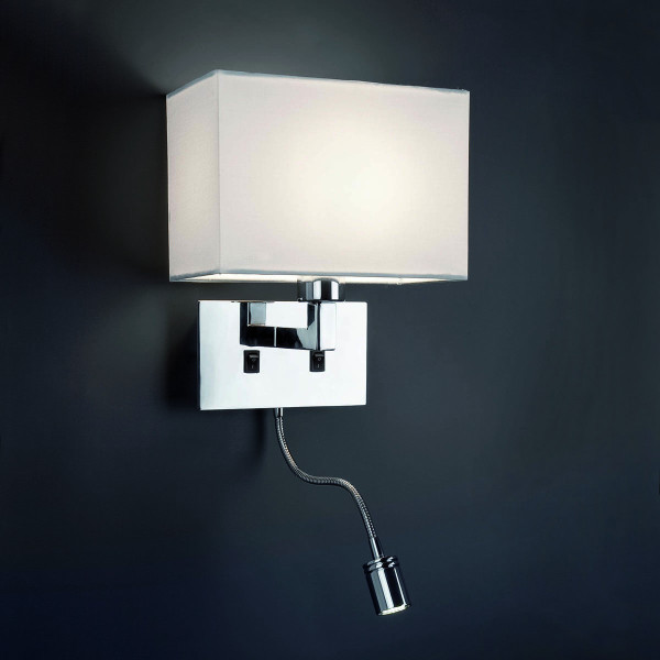 applique murale avec liseuse led luminaire faro. Black Bedroom Furniture Sets. Home Design Ideas
