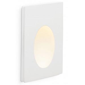 Luminaire LED à encastrer dans un mur en plâtre