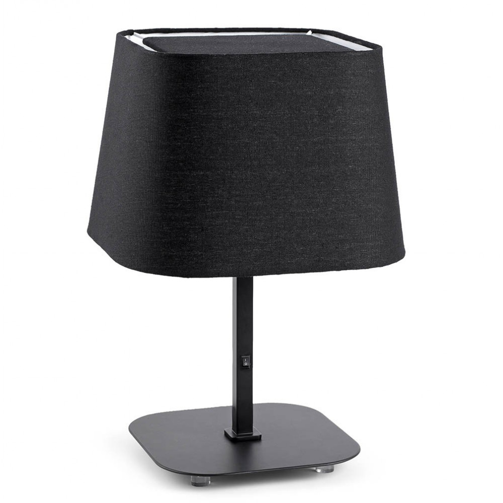 lampe de chevet noire pour chambre d 39 h tel ou la maison. Black Bedroom Furniture Sets. Home Design Ideas