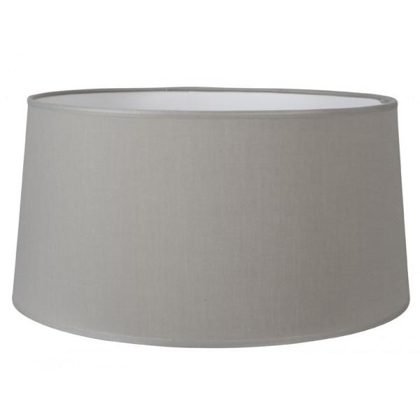 grand abat jour conique en coton gris clair lampe avenue. Black Bedroom Furniture Sets. Home Design Ideas