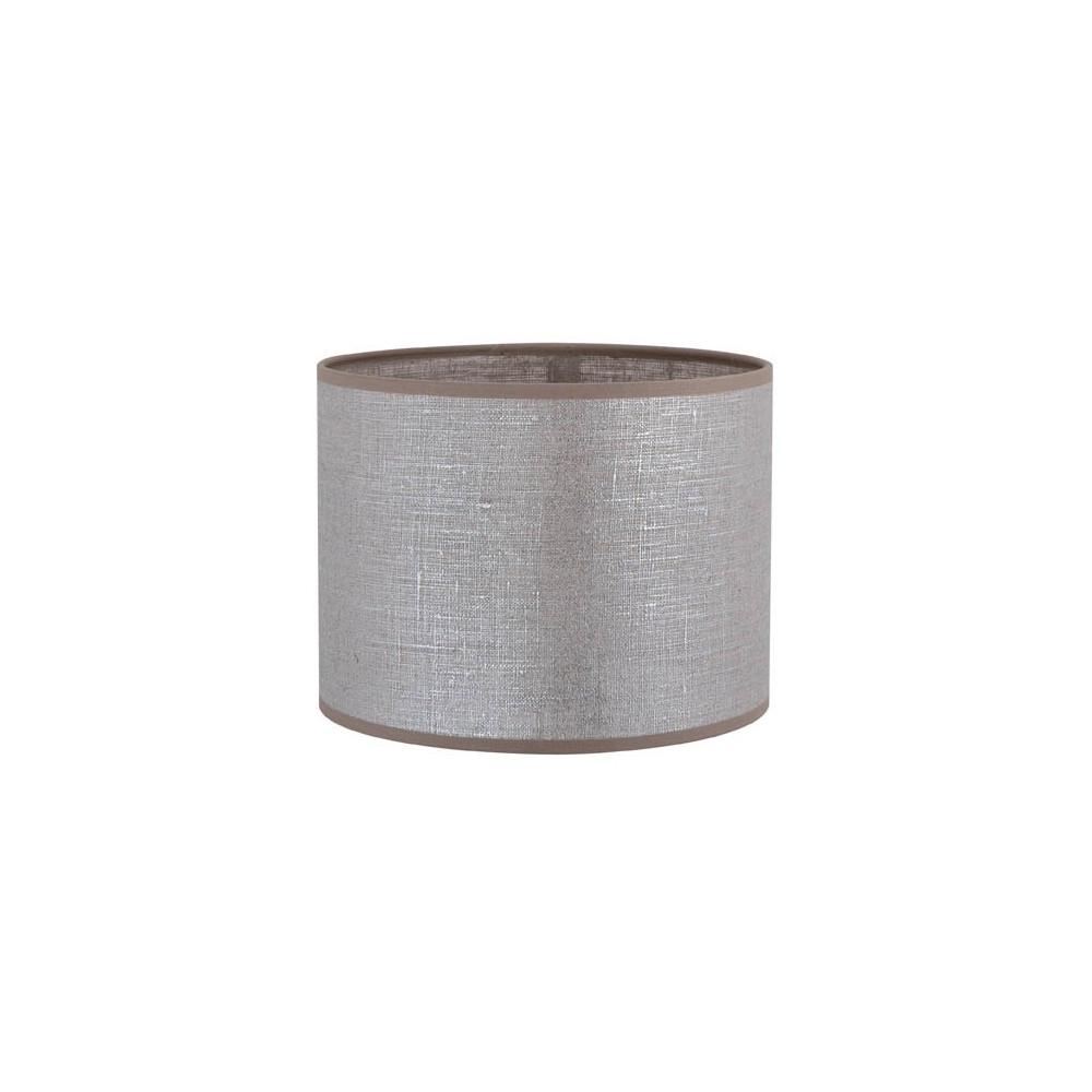 vente abat jour cylindrique en lin gris argent sur lampe avenue. Black Bedroom Furniture Sets. Home Design Ideas