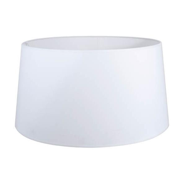 grand abat jour blanc rond conique pour lampe ou. Black Bedroom Furniture Sets. Home Design Ideas