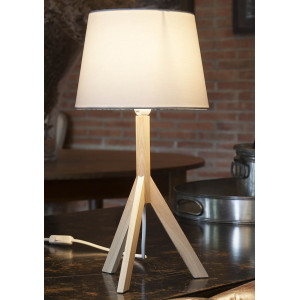 Lampe bois élégante