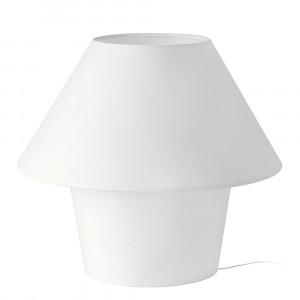 Lampe blanche abat-jour