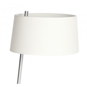 Lampe design abat-jour blanc