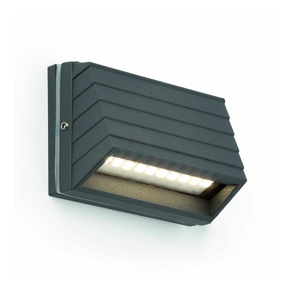 Applique led gris fonc pour l 39 ext rieur luminaire for Applique exterieur led eclairage exterieur