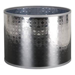Abat-jour cylindrique gris argenté