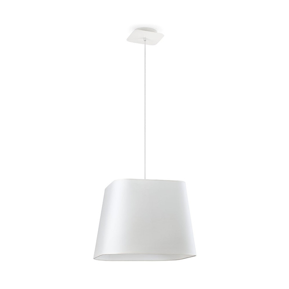 Suspension luminaire carr e blanche en vente sur lampe avenue for Lampe suspension blanche
