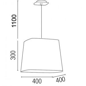 Suspension luminaire taille