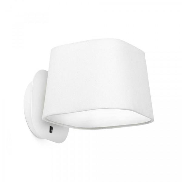 applique murale blanche l gante avec interrupteur. Black Bedroom Furniture Sets. Home Design Ideas