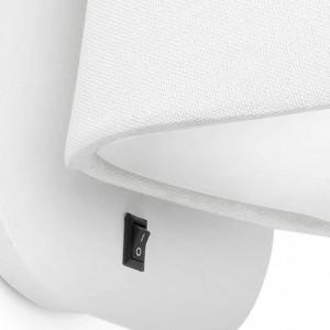 Applique murale blanche élégante avec interrupteur