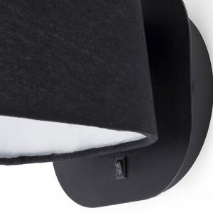 Applique lampe chevet noire avec interrupteur
