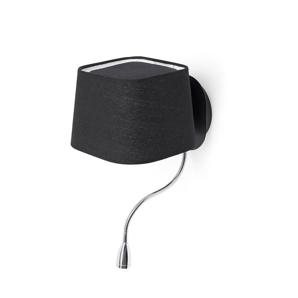 applique chevet noire avec liseuse et interrupteur. Black Bedroom Furniture Sets. Home Design Ideas
