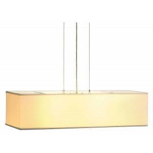Suspension luminaire rectangle blanc avec diffuseur