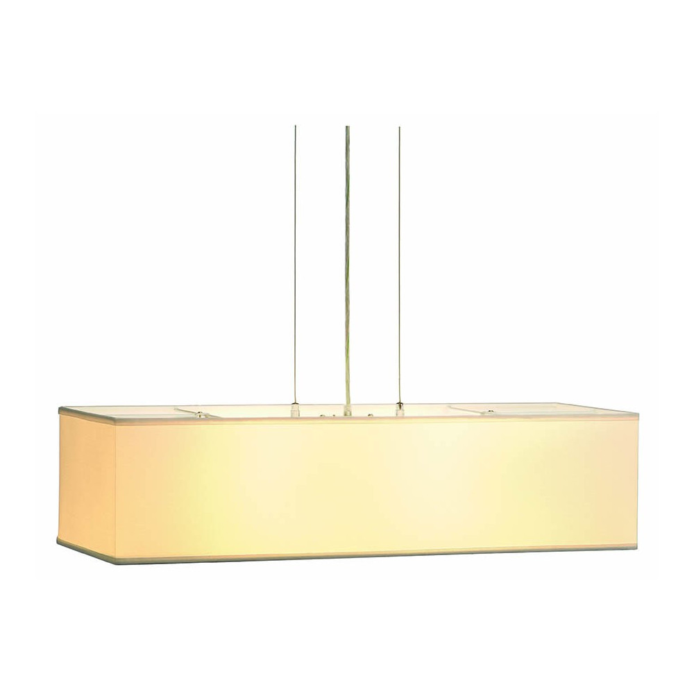 Suspension luminaire rectangle blanc avec diffuseur for Luminaire suspension blanc