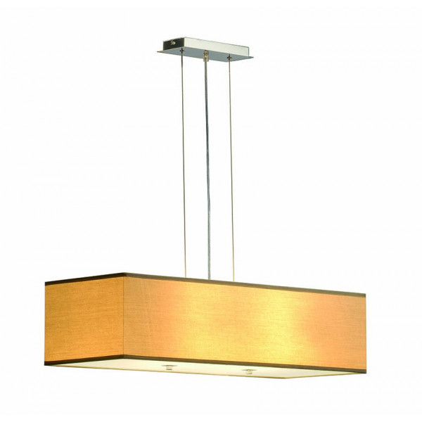 Suspension luminaire beige