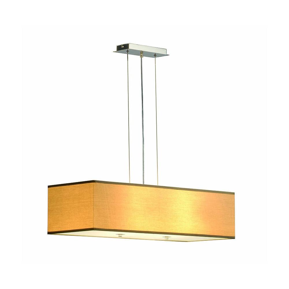 Suspension luminaire beige rectangulaire avec diffuseur for Luminaire exterieur suspension