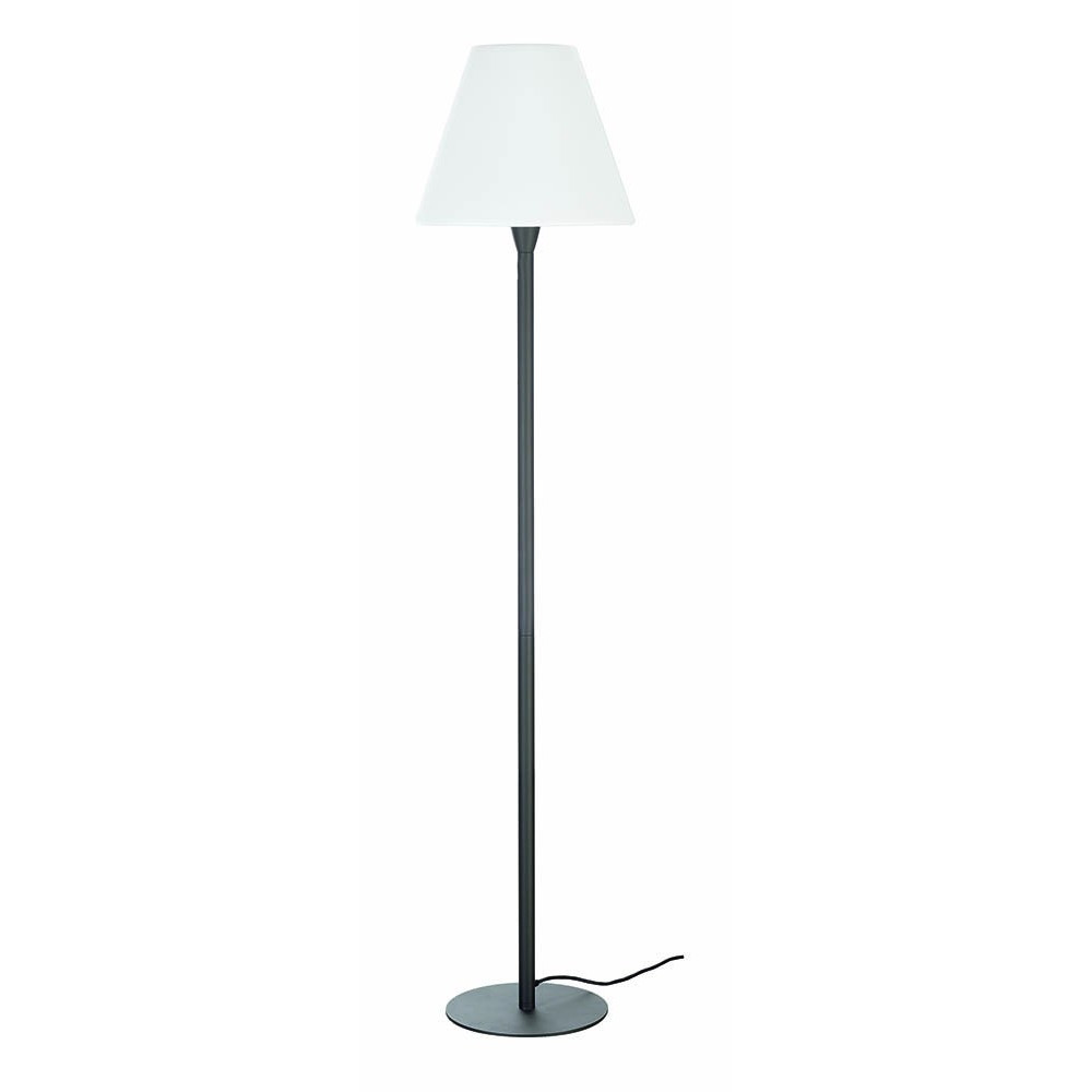 lampadaire ext rieur gris anthracite abat jour blanc. Black Bedroom Furniture Sets. Home Design Ideas