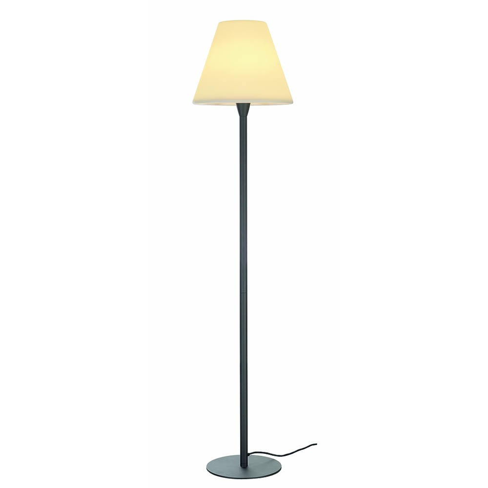 lampadaire ext rieur gris anthracite abat jour blanc. Black Bedroom Furniture Sets. Home Design Ideas