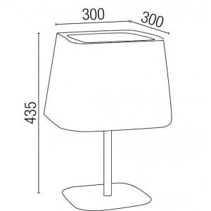 dimensions de la lampe