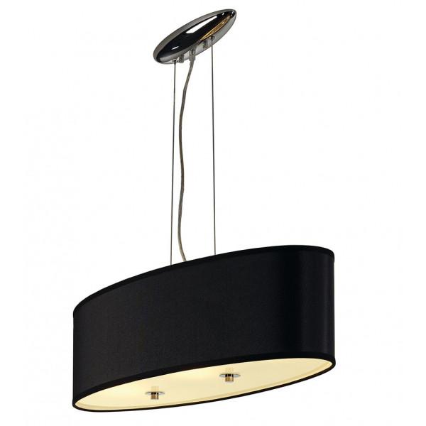 Suspension ovale noire