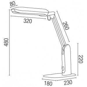 Dimensions lampe flexible grise