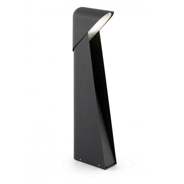 Acheter grande borne ext rieure design en aluminium noir for Eclairage exterieur noir