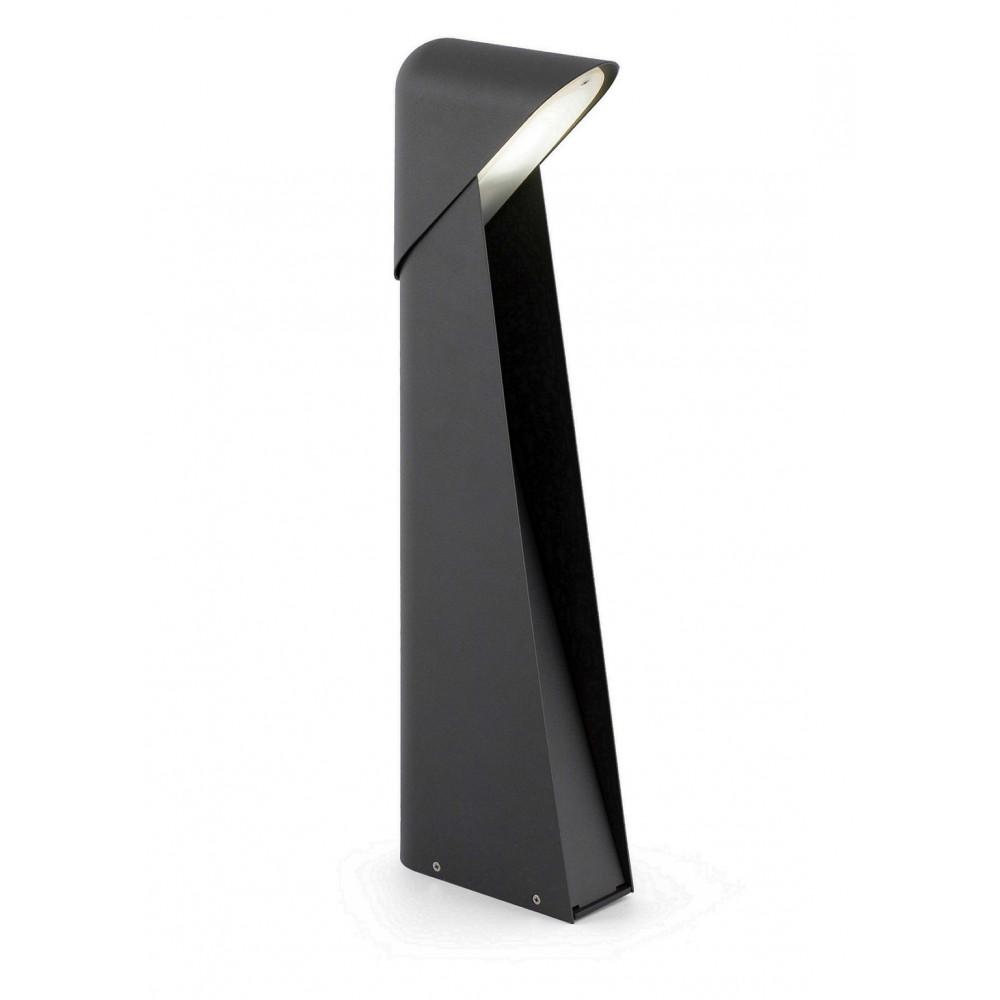 Acheter grande borne ext rieure design en aluminium noir for Luminaire exterieur noir