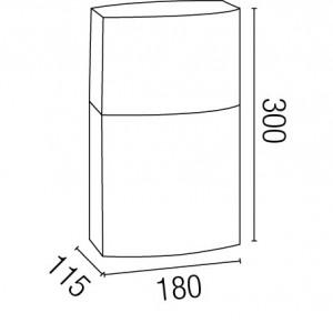 Dimensions balise extérieur design grise