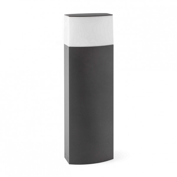 Borne extérieure en aluminium gris
