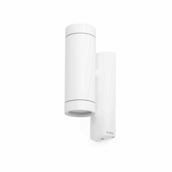 Applique extérieure cylindrique blanche
