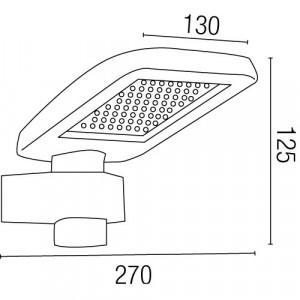 Dimensions applique extérieure grise avec diffuseur