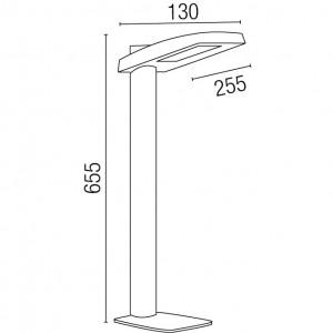 Dimensions borne extérieure LED