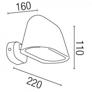 Dimensions applique extérieure LED design