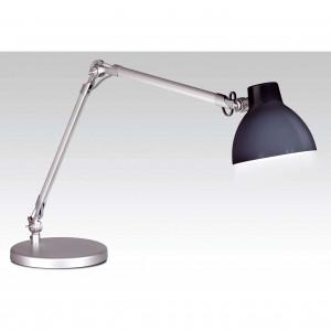 Lampe articulée bureau en alu gris et noir